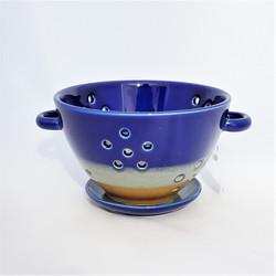 Fair trade ceramic colander from Vietnam