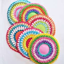 Fair trade felted fabric trivet from Thailand