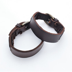 fair trade leather bracelet from india