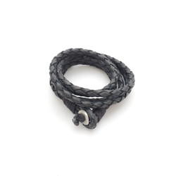 fair trade black braided bracelet from India
