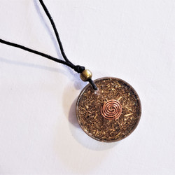 Fair trade resin everlasting knot pendant from Chile