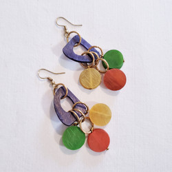 fair trade bone dangle earrings from India