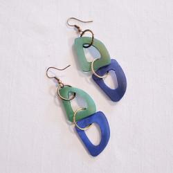 fair trade bone dangle earrings from India