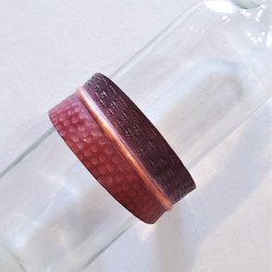 fair trade oxidized copper cuff bracelet from India