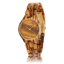 fair trade Tigano wood watch from Netherlands