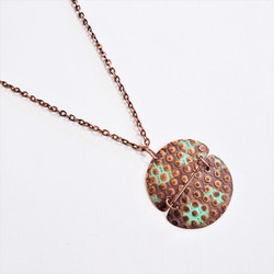fair trade oxidized copper patina necklace from India