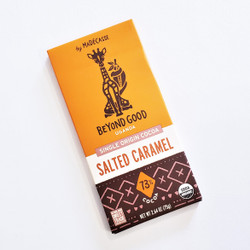 Ethically Sourced Madecasse Beyond Good Salted Caramel Chocolate Bar from Madagascar