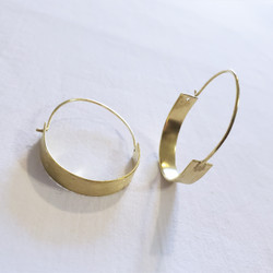 fair trade pull through brass hoop earrings from India