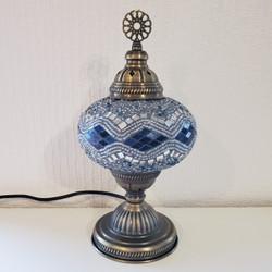 Fair trade glass mosaic decorative lamp from Turkey