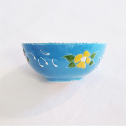 Fair Trade Relief Style Hand Painted Ceramic Mini Dish from Turkey