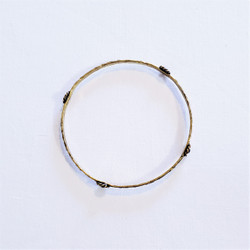 Fair trade brass and lapis bangle bracelet from India