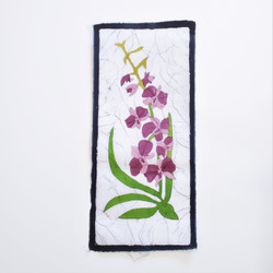 fair trade thai orchid floral wall art from nepal