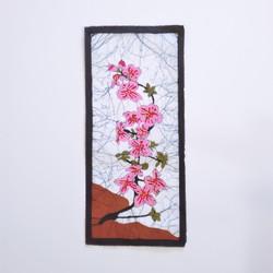 fair trade batik flower wall art from nepal
