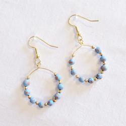 Fair trade ceramic bead dangle earring from Haiti