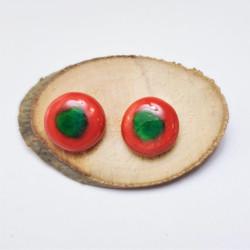 Fair trade enameled ceramic post earrings from Chile