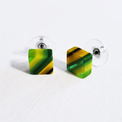 fair trade eco-resin post earrings from Colombia