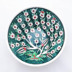 Fair trade hand painted tree of life ceramic bowl from Turkey