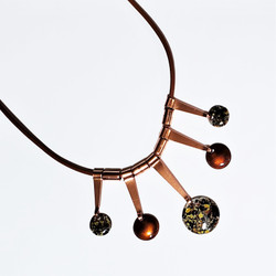 fair trade enameled copper necklace from Chile