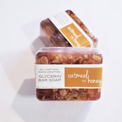 hand made honey and oat glycerin soap