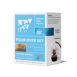 fair trade pour over coffee set from Vietnam