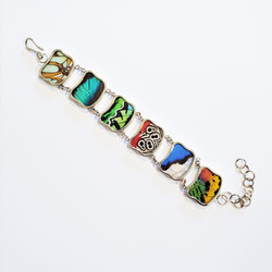 fair trade ethically made butterfly wing bracelet from Peru