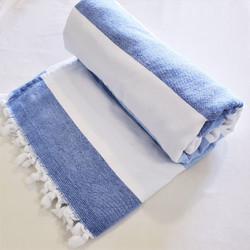 fair trade hand loomed cotton terry bath towel from Turkey