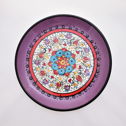 Fair trade hand painted ceramic plate from Turkey