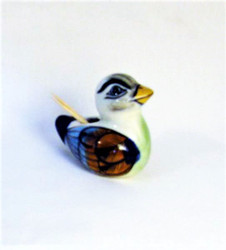 Fair Trade Hand Painted Ceramic Duck Toothpick Holder from Guatemala