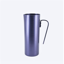 Fair trade anodized aluminum pitcher from Mexico