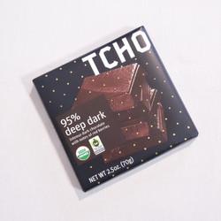 Fair trade tcho deep dark chocolate bar