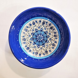 fair trade hand painted ceramic serving bowl from Turkey