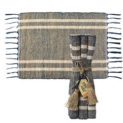 fair trade woven vetiver placemat set from Java, Indonesia