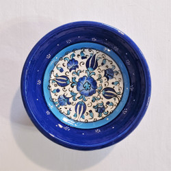 fair trade hand painted ceramic bowl from Turkey