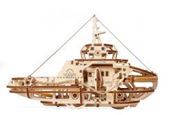 UGears mechanical model tugboat kit from Ukraine