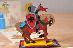 UGears paintable Knight model kit for kids from Ukraine