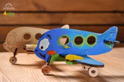 UGears paintable Biplane model kit for kids from Ukraine