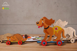 UGears paintable kitten and puppy model kit for kids from Ukraine
