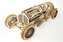 UGears grand prix car mechanical model kit from Ukraine