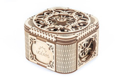 UGears treasure box mechanical model kit from Ukraine