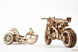 UGears motorcycle scrambler mechanical model kit from Ukraine