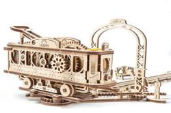UGears mechanical town tram line model kit from Ukraine