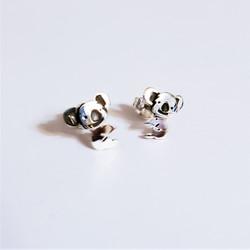 Fair trade sterling silver koala bear post earrings from Mexico
