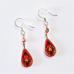fair trade hand painted dangle southwest design earrings from Peru