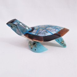 Fair trade inlaid abalone  turtle from Bali