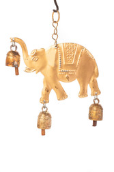 fair trade copper annealed elephant chime from India