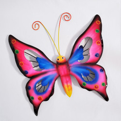 fair trade recycled metal butterfly wall art from Bali