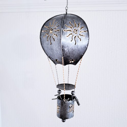 fair trade recycled metal hot air balloon lantern from Bali