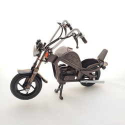 Fair trade recycled wire and iron motorcycle from Bali