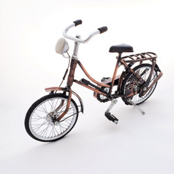 Fair trade recycled wire and iron bicycle from Bali