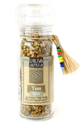fair trade yassa spice blend in grinder from South Africa